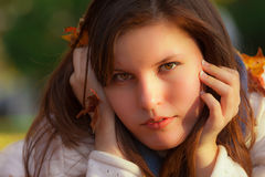 attraktivt kvinnabarn Arkivfoto