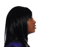 attraktivt kvinnabarn för afrikansk amerikan Royaltyfri Foto