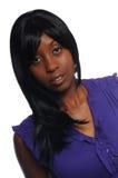 attraktivt kvinnabarn för afrikansk amerikan Arkivfoton