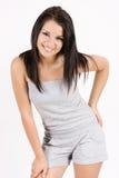 attraktivt le för flickastående Royaltyfria Bilder