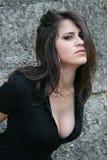 attraktivt posera för brunett Arkivfoton