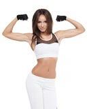Attraktivt posera för ung kvinna för kondition Sund livsstil för sportar royaltyfria foton