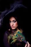 attraktivt posera retro kvinnabarn Royaltyfria Bilder