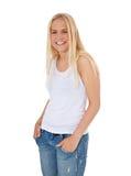 attraktivt skratta för flicka Royaltyfri Bild