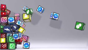 Attraktivt socialt nätverk vektor illustrationer