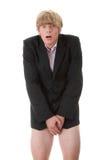 Attrapé avec le pantalon vers le bas Photo libre de droits