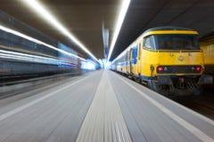 Attraper un train Photos stock