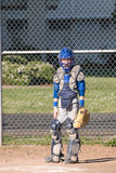 Attrapeur Teenaged de base-ball. Image stock