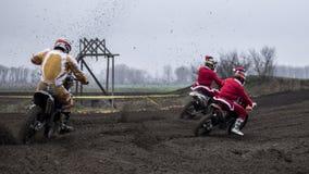 Attrapez les Santa Image stock