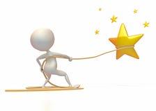 Attrapez une étoile illustration de vecteur