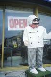 Attrappe gekleidet als Chef, Los Angeles, CA Lizenzfreie Stockbilder