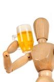 Attrappe mit dem Bierkrug Stockfoto