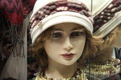 Attrappe mit Hut Stockbild