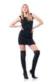 Attrative妇女佩带的topboots 库存图片