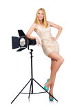 Attrative Frau im Studio Lizenzfreies Stockfoto