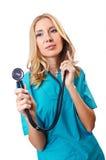 Attrative kvinnadoktor Arkivbilder