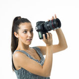 Attrative photographer Royalty Free Stock Photography