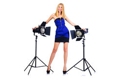 Attrative woman in   studio Royalty Free Stock Photography