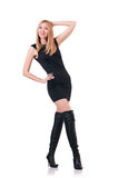 Attrative woman wearing topboots Stock Image