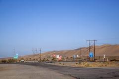 Attraversando a 8 da uno stato all'altro con la via nociva Fotografia Stock Libera da Diritti