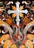 Attraversi, dettaglio dell'altare, cattedrale di Ragusa Immagini Stock Libere da Diritti