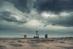 Attraversi il paesaggio nucleare apocalittico elaborato della posta di concetto con Fotografia Stock