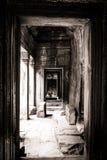 Attraversi la vista di un fronte in Bayon, Angkor, Cambogia Fotografia Stock Libera da Diritti