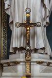 Attraversi sull'altare di St Joseph nella cattedrale di Zagabria Fotografia Stock