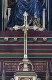 Attraversi sull'altare di vergine Maria nella cattedrale di Zagabria Fotografia Stock