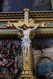 Attraversi sull'altare nella basilica del cuore sacro di Gesù a Zagabria Immagine Stock Libera da Diritti