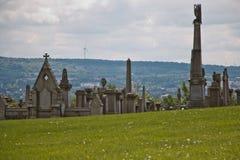 Attraverso il cimitero Fotografia Stock
