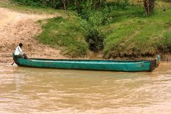 Attraverso il fiume Fotografia Stock
