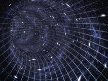 Attraverso l'universo Viaggiando nello spazio Viaggio di tempo Fotografia Stock