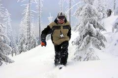 Attraverso la neve fotografia stock libera da diritti