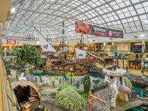 Attrazione ad ovest di galeone del centro commerciale di Edmonton Immagini Stock Libere da Diritti