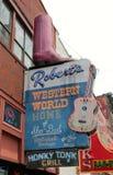 Attrazione da bettola del mondo occidentale di Robert, Nashville Tennessee fotografia stock