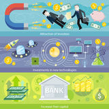 Attrazione degli investitori per investire in nuove tecnologie Immagine Stock