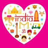 Attrazione di viaggio dell'India Immagini Stock