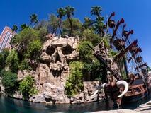Attrazione Las Vegas dell'isola del tesoro Fotografia Stock Libera da Diritti