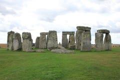 Attrazione, Stonehenge sulla pianura di Salisbury Wiltshire in Inghilterra immagini stock libere da diritti