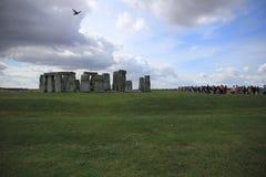 Attrazione, Stonehenge sulla pianura di Salisbury Wiltshire in Inghilterra fotografia stock