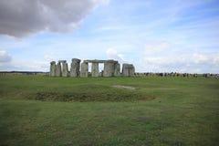 Attrazione, Stonehenge sulla pianura di Salisbury Wiltshire in Inghilterra fotografia stock libera da diritti