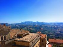 Attrazione turistica del regno di San Marino L'Italia del Nord fotografia stock libera da diritti