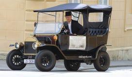 Attrazione turistica di Zagabria/temporizzatore anziano che fa un giro turistico Fotografia Stock