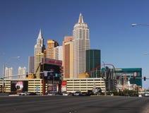 Attrazioni delle costruzioni della striscia di Las Vegas, Nevada fotografie stock