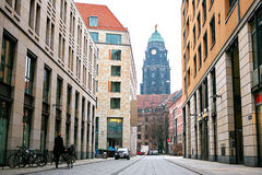 Attrazioni di Dresda Posti turistici Vita di tutti i giorni in Germania Immagini Stock Libere da Diritti