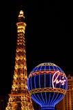 Attrazioni di Parigi Las Vegas Fotografia Stock Libera da Diritti
