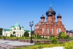 Attrazioni nel quadrato centrale a Tula, Russia Fotografie Stock