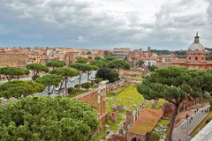 Attrazioni turistiche a Roma Fotografia Stock Libera da Diritti