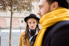 attrective young couple stock photography